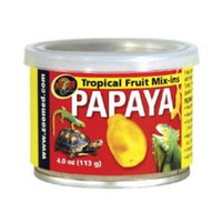 Zoo Med Tropical Fruit Mix-ins Papaya Reptile Food, 4-Ounce