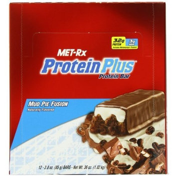 MET-Rx Protein Plus Protein Bar, Mud Pie Fusion, 3-Ounce Bars (Pack of 12)