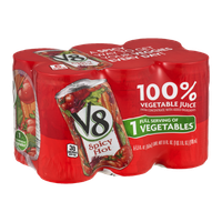 V8 100% Vegetable Juice Spicy Hot - 6 CT