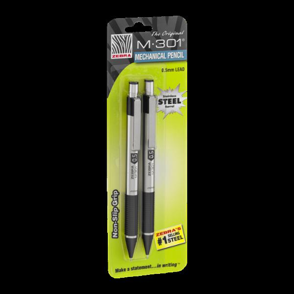 Zebra M-301 Mechanical Pencil 0.5mm Lead - 2 CT