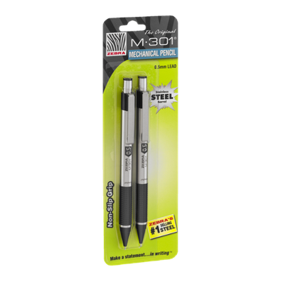 Zebra M-301 Mechanical Pencil 0.5mm Lead - 2 CT
