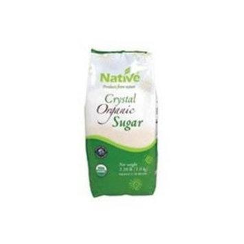Native Organic White Crystal Cane Sugar 2.2 LB (Pack of 12) ( Value Bulk Multi-pack)