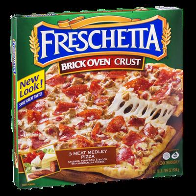Freschetta Brick Oven Crust Pizza 3 Meat Medley Pizza