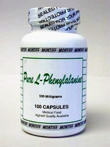 Pure L-Phenylalanine 500 mg 100 caps by Montiff