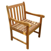 Vifah Wood Nobi Outdoor Armchair - Brown