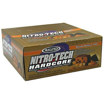 Nitro Tech Bar Peanut Butter Chocolate Chip Muscletech 12 Bars 1 Box