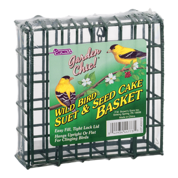 Brown's Garden Chic! Wild Bird Suet & Seed Cake Basket