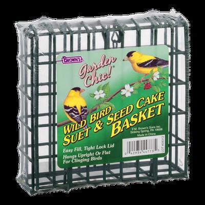 Brown's Garden Chic! Wild Bird Suet & Seed Cake Basket