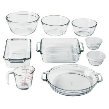 Anchor Hocking Oven Basics Bake Set - 11 Piece (Crystal Clear)
