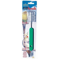 JW Pet Company Insight Double Brush Silo Cleaner, Colors Vary