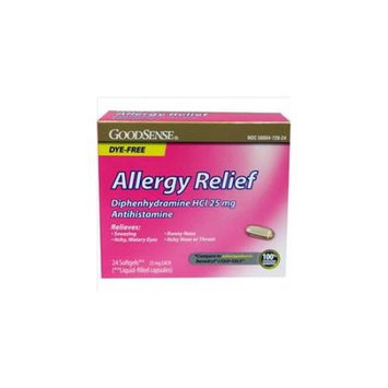 GoodSense Allergy Relief 25 Mg Dye Free Softgels 24 Count