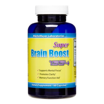 MaritzMayer Super Brain Boost 1554 with Ginkgo Biloba Bacopin Vinpocetine 30 caps