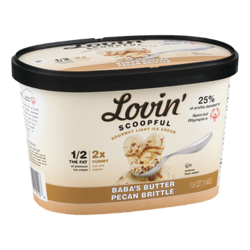 Lovin' Scoopful Gourmet Light Ice Cream Baba's Butter Pecan Brittle