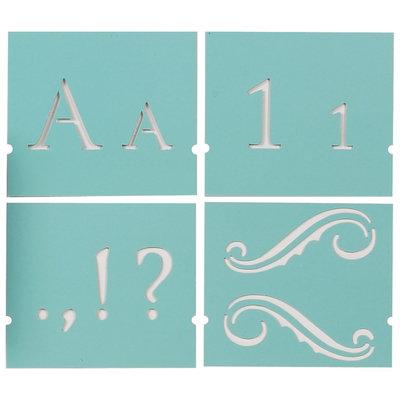 Plaid:craft Martha Stewart Crafts® Large Alphabet Stencil - Monogram Serif
