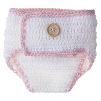 Shalom International So'dorable Infant Girls' Reusable Diaper Cover - White/Light Pink