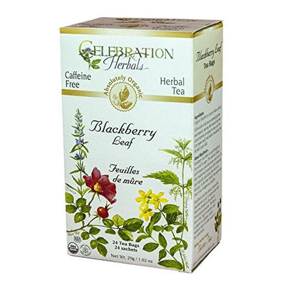 Celebration Herbals Organic Blackberry Leaf Caffeine Free 24 Tea Bags