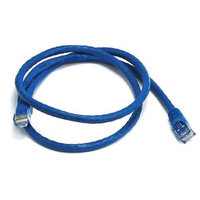 Monoprice 3FT 24AWG Cat6 550MHz UTP Bare Copper Ethernet Network Cable - Blue