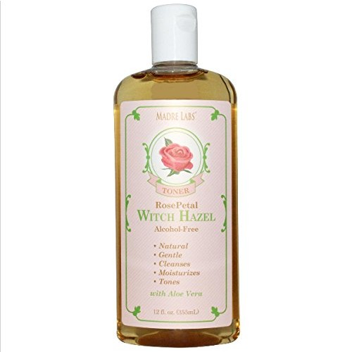 Madre Labs, Witch Hazel Toner, Rose Petal, Alcohol Free, 12 fl oz (355 ml)