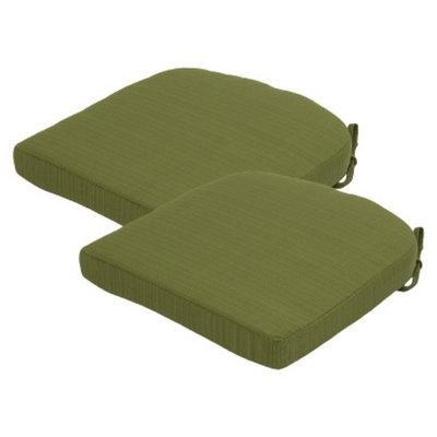 Threshold 2-Piece Outdoor Round Back Seat Cushion Set - Green
