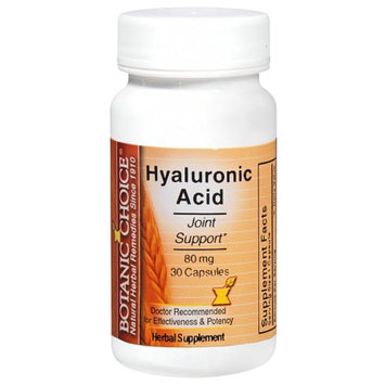 Botanic Choice Hyaluronic Acid 80 mg Herbal Supplement Capsules