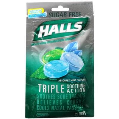 HALLS Sugar Free Flavor Drops Assorted Mint