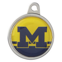 TagWorks University of Michigan Wolverines Pet ID Tag