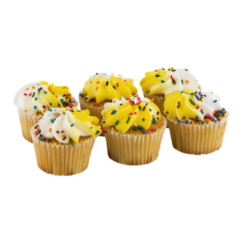 La Bree's Bakery Cupcakes Gold with White Icing and Sprinkles - 6 CT
