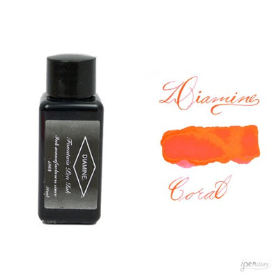 Diamine 30 ml Bottle Fountain Pen Ink, Coral