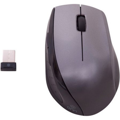 Onn M730R-GRAY Laser Wireless Mouse - 4 Buttons - USB - AAA Battery (Not Included) - Gray/Black