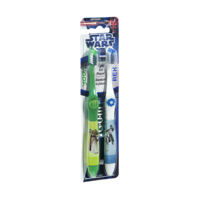 GUM Star Wars Yoda and Rex Soft Toothbrushes - 2 CT