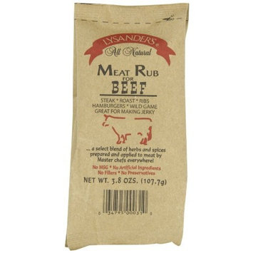 Lysander's Beef Meat Rub, 3.8-Ounce (Pack of 6)