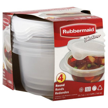 Rubbermaid RUBBERMAID 4 Piece 3.5 Cup Round Take Along Container