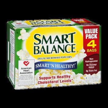 Smart Balance Smart 'N Healthy! Deluxe Microwave Popcorn - 4 CT