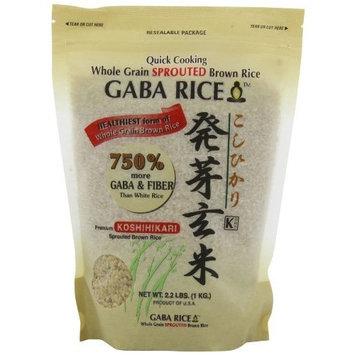 Shirakiku Koshihikari Premium Sprouted Brown Gaba Rice, 2.2-Pound Pouches (Pack of 2)