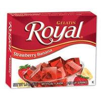 Royal Gelatin, Strawberry Banana, 1.4-Ounce (Pack of 12)