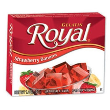 Royal Gelatin, Strawberry Banana, 1.4-Ounce (Pack of 12)