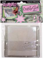 Crop & Glue Permanent Vellum Adhesive 10 Sheets/Pk