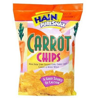 Hain Pure Snax Carrot Chips, 4-Ounce Bags (Pack of 12)
