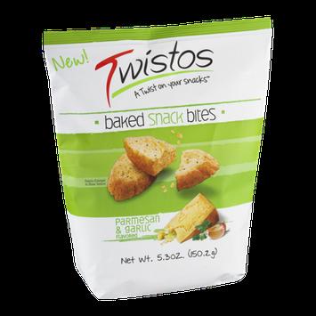 Twistos Baked Snack Bites Parmesan & Garlic Flavored