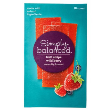 Simply Balanced Wild Berry Fruit Strips 10 ct