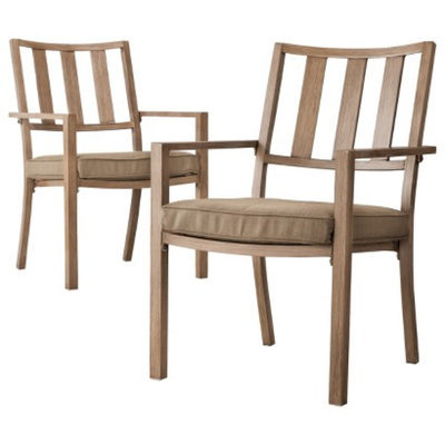 Threshold Holden 2-Piece Metal Patio Dining Chair Set - Taupe