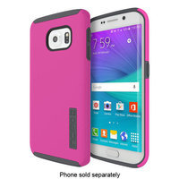 Incipio - DualPro Case for Samsung Galaxy S6 edge Cell Phones - Pink/Charcoal