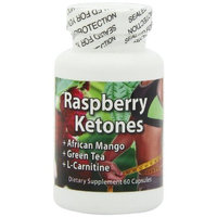 Fresh Health Nutritions Raspberry Ketones 500 mg. with African Mango, Green Tea, and L-Carnitine, 60 capsules