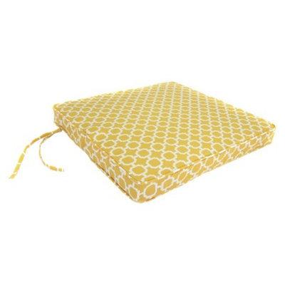 Jordan Outdoor Seat Cushion - Yellow/White Geometric 20.5