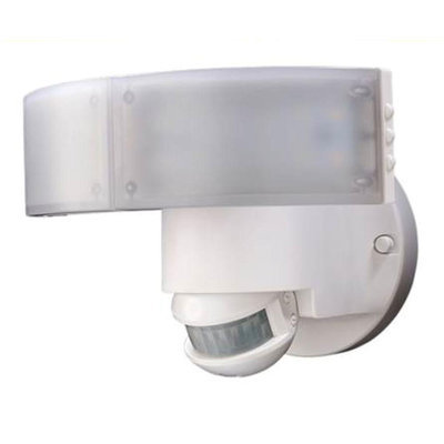 Defiant Flood Lights 180-Degree White Outdoor LED Motion Security Light DFI-5982-WH