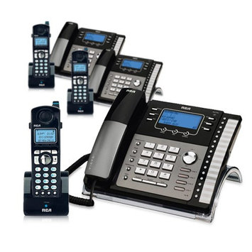 Ge/rca RCA ViSYS 25423RE1 & H5401RE1 (3-Pack) GE / RCA Cordless / Corded Phone System