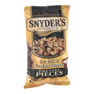 Snyder's Of Hanover Sea Salt & Cracked Pepper Pretzel Pieces