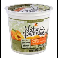 Nature's Promise Organics Organic Fat Free Peach Yogurt