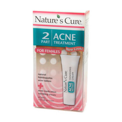 Nature's Cure Two-Part Acne Treatment System for Females