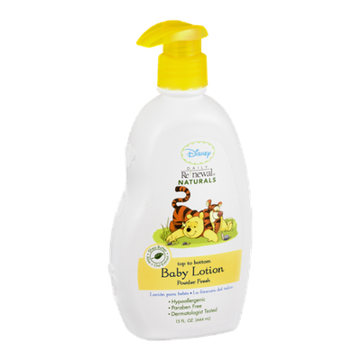 Disney Daily Renewal Naturals Top To Bottom Baby Lotion Powder Fresh